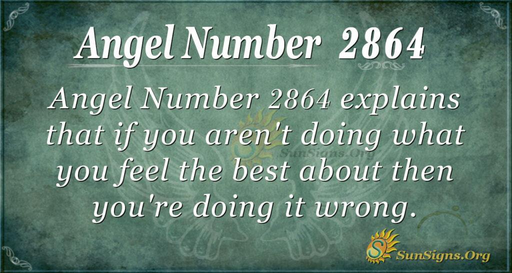 Angel Number 2864