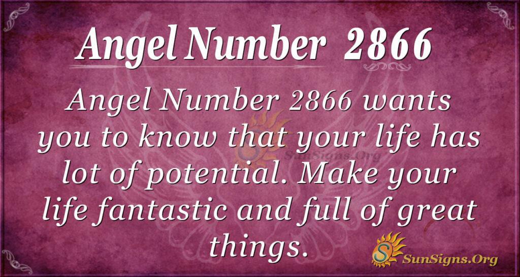 Angel Number 2866