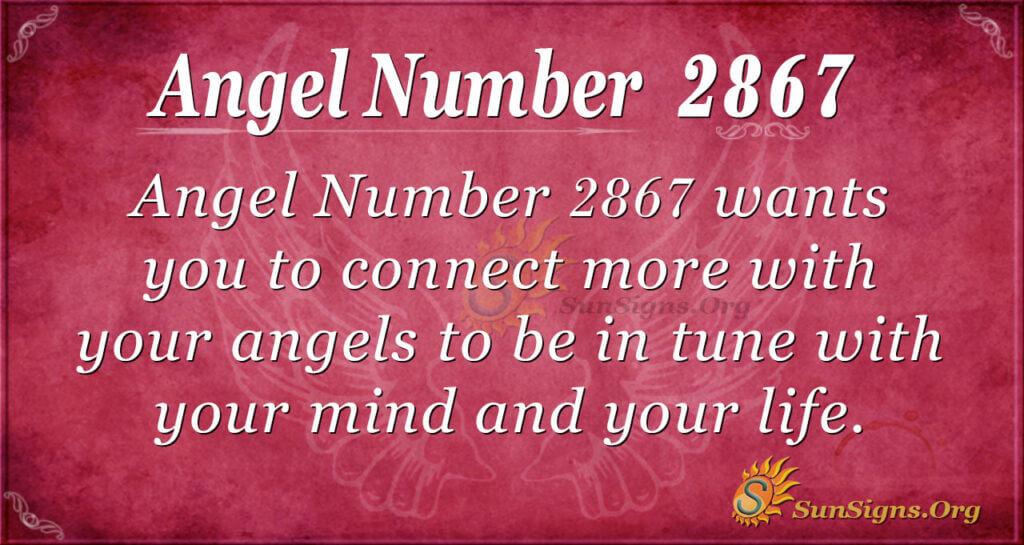 Angel Number 2867