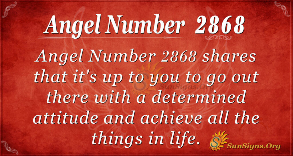 Angel Number 2868