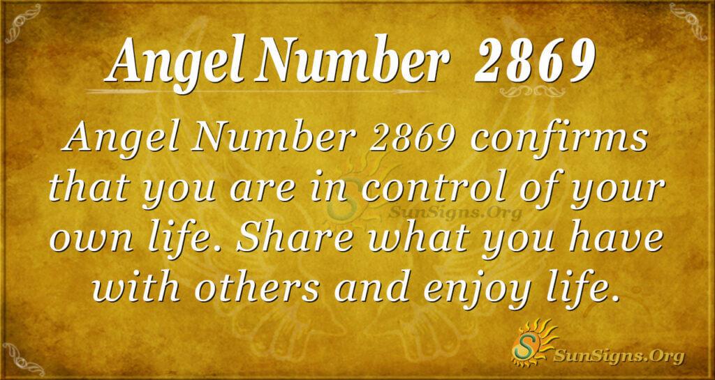 Angel Number 2869