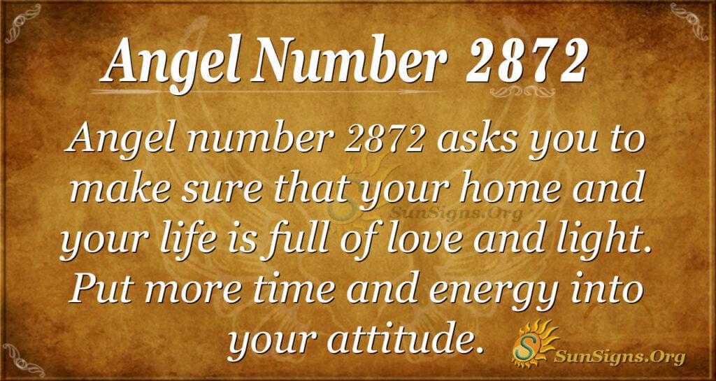 Angel Number 2872