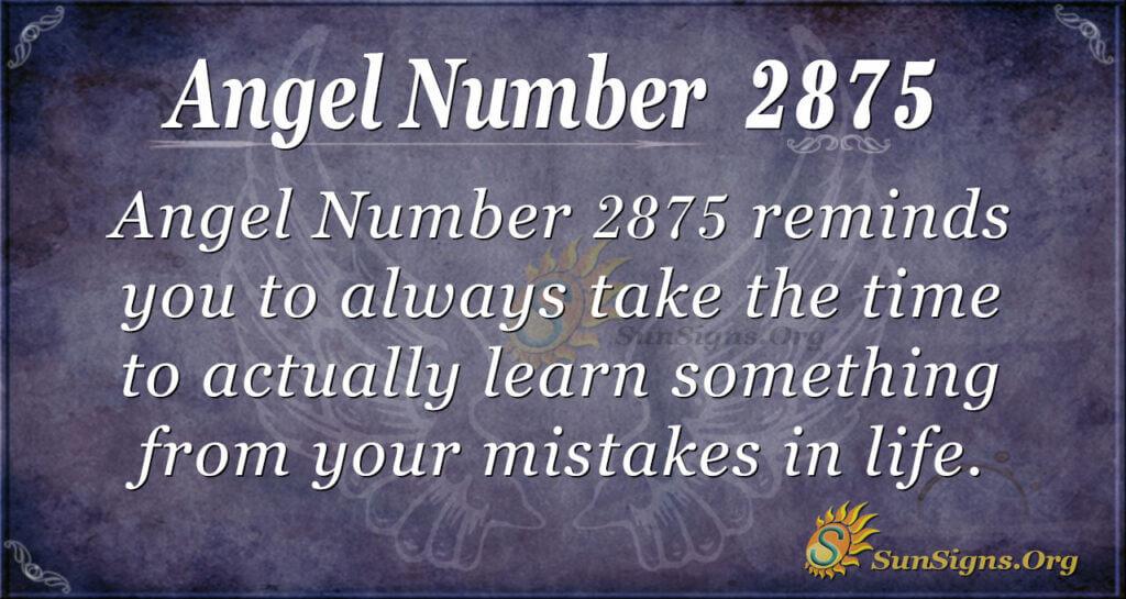Angel Number 2875