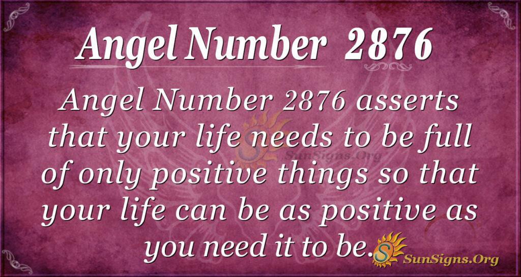 Angel Number 2876