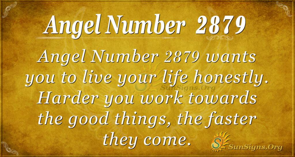 Angel Number 2879