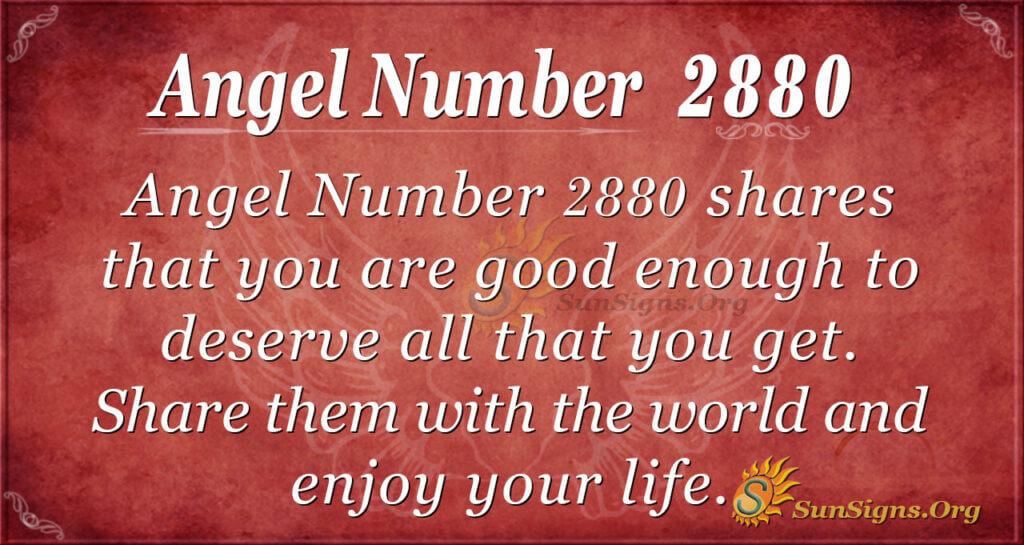 Angel Number 2880