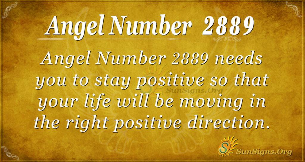 Angel Number 2889
