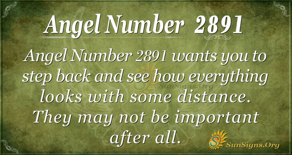 Angel Number 2891