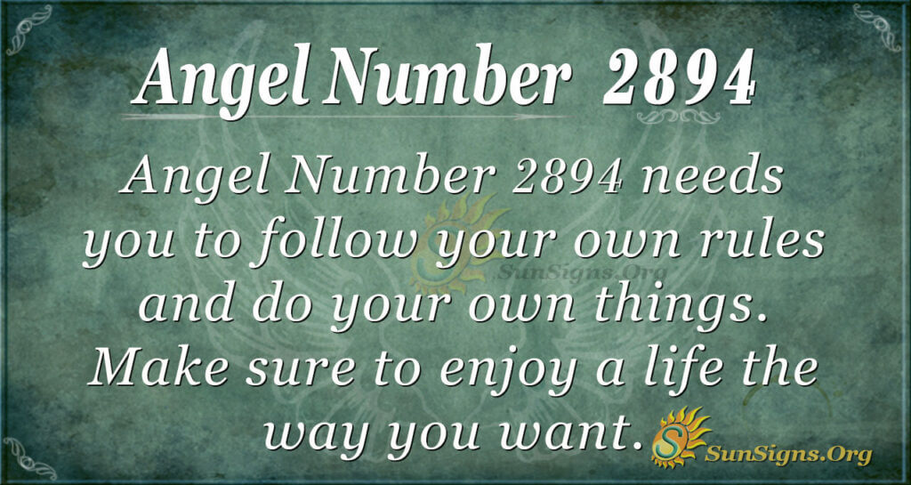 Angel Number 2894