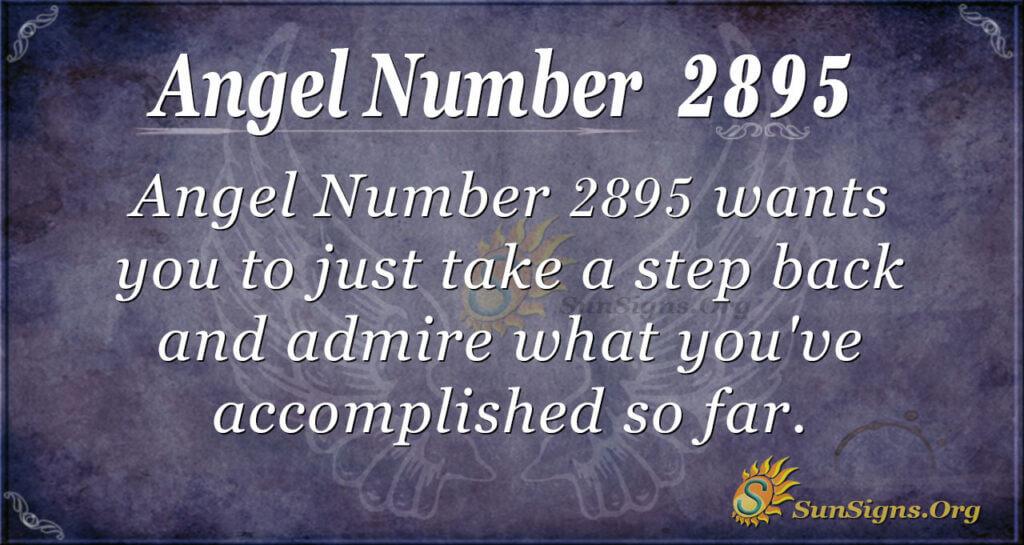 Angel Number 2895