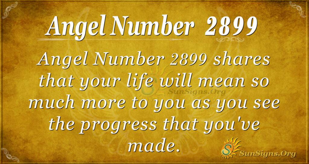 Angel Number 2899