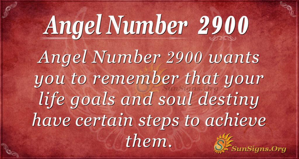 Angel Number 2900