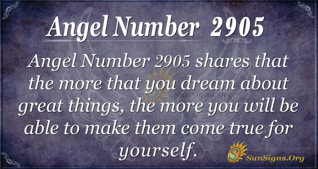 2905 angel number