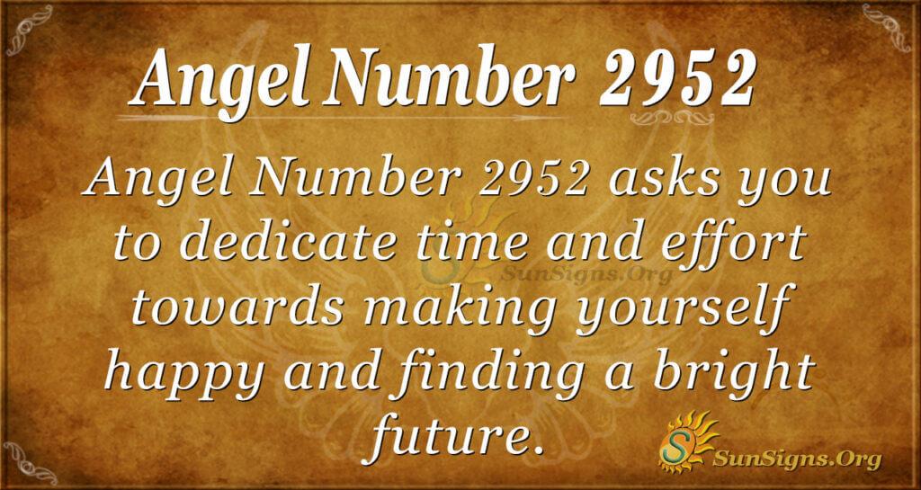 Angel Number 2952