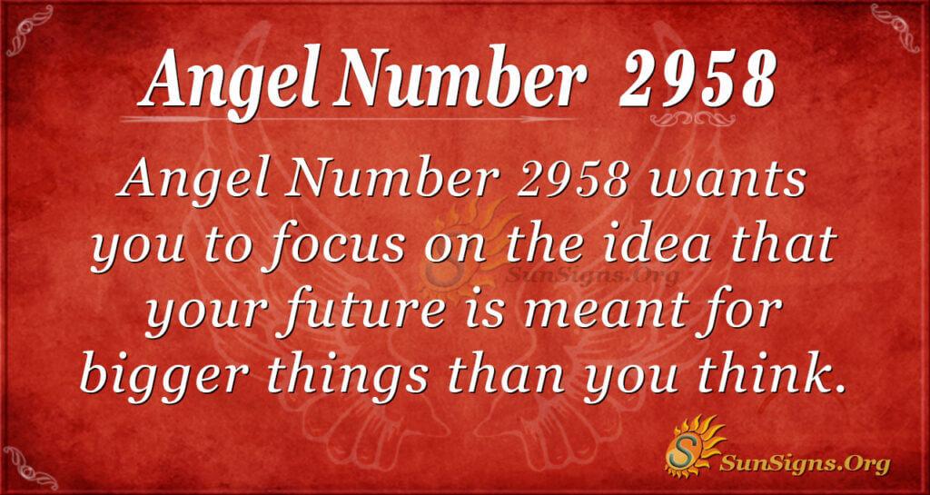 Angel Number 2958