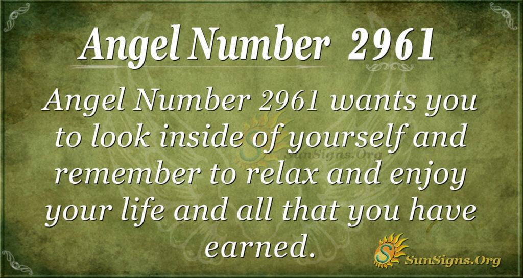 Angel Number 2961