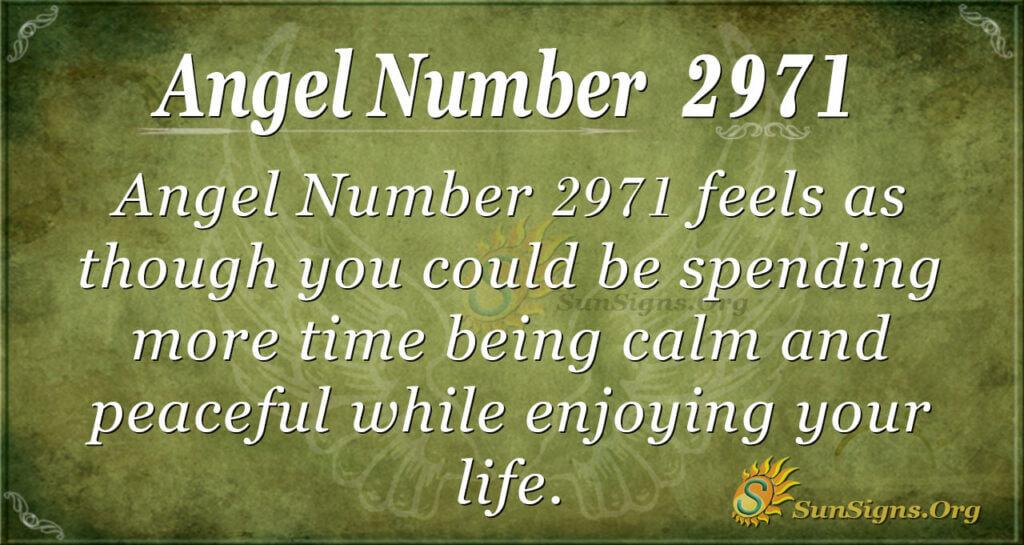 Angel Number 2971