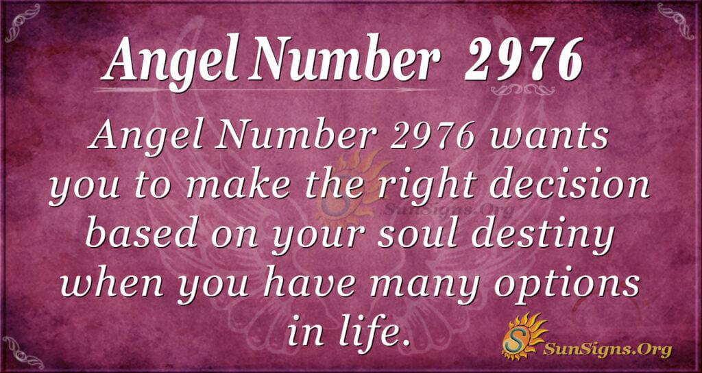 Angel Number 2976