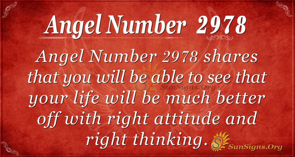 Angel Number 2978