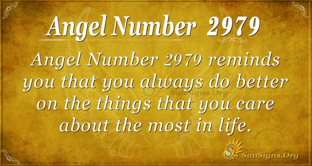 Angel Number 2979