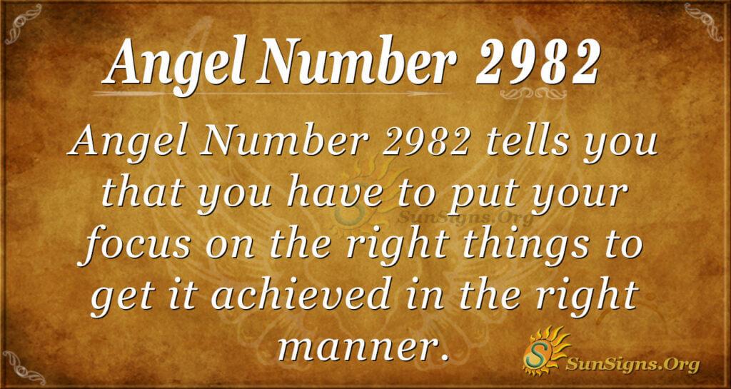 Angel Number 2982