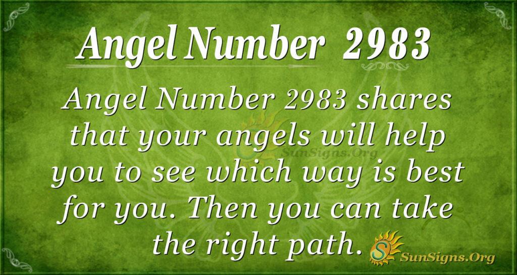 Angel Number 2983