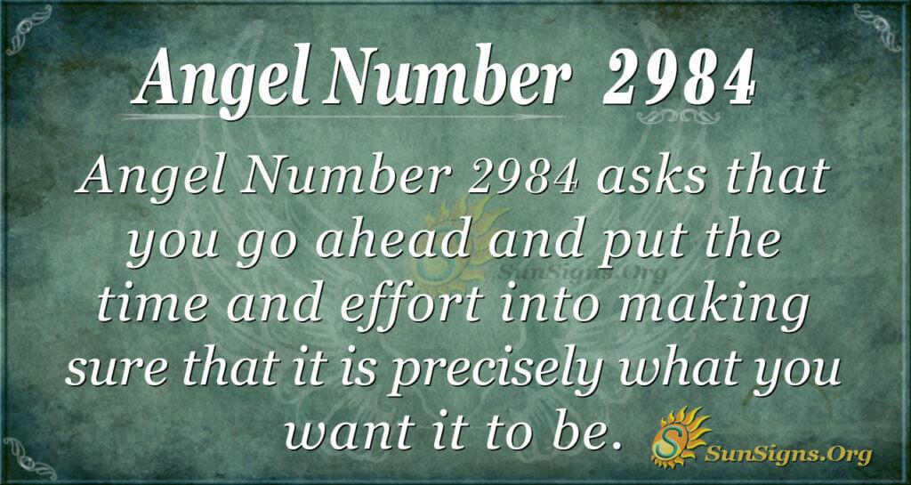 Angel Number 2984