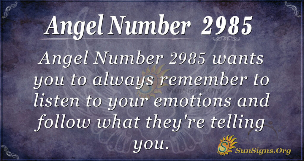 Angel Number 2985