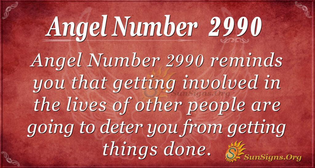 Angel Number 2990