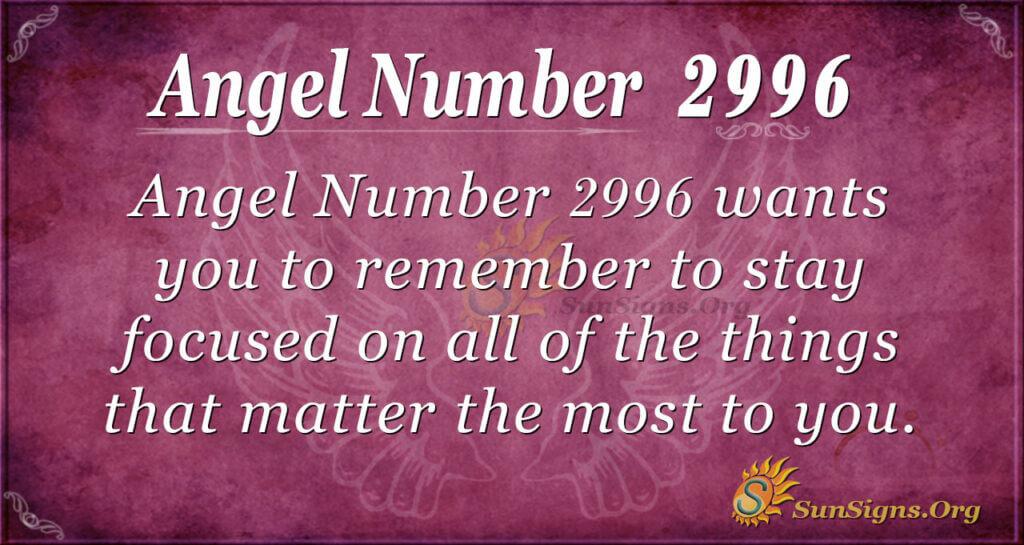 Angel Number 2996