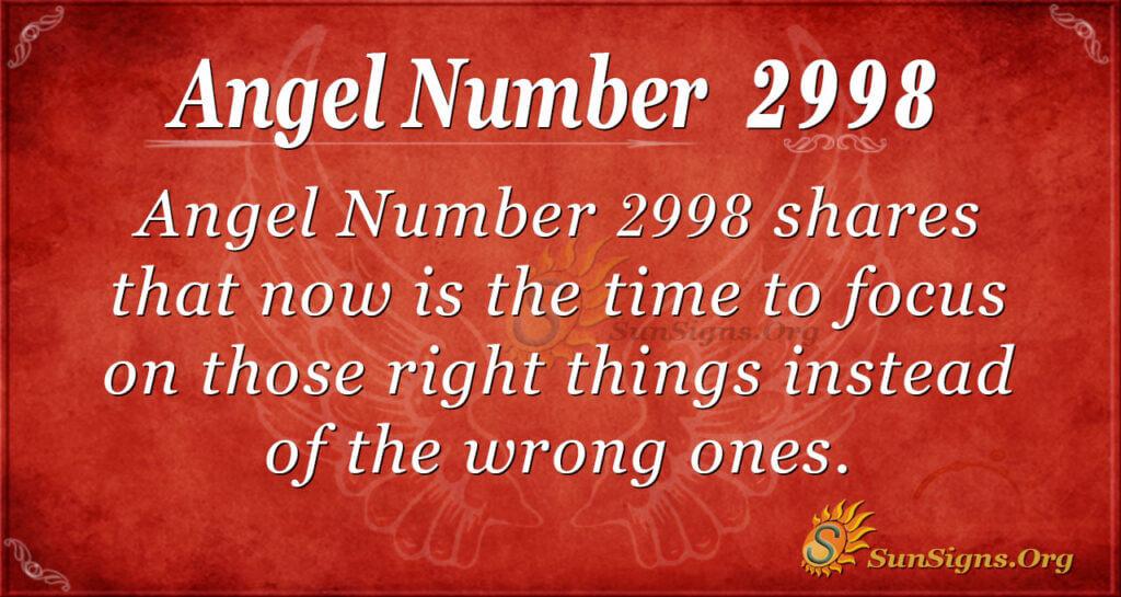 Angel Number 2998
