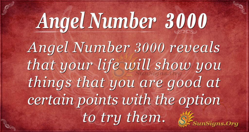 Angel Number 3000