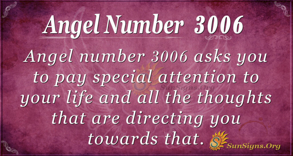 Angel Number 3006