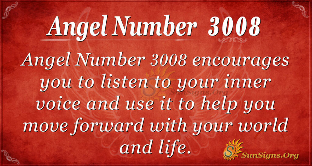 Angel Number 3008