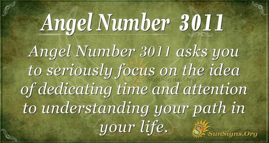 Angel Number 3011