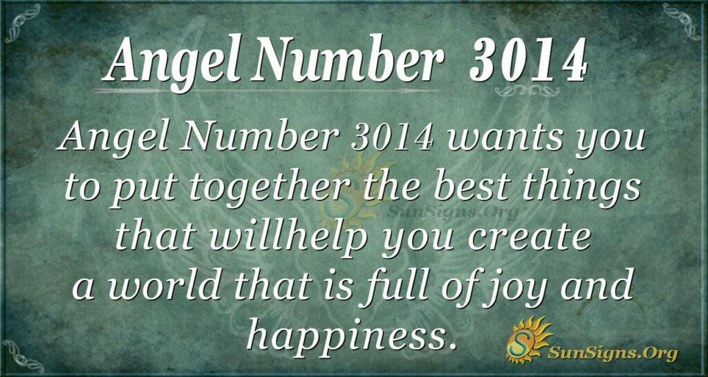 Angel Number 3014