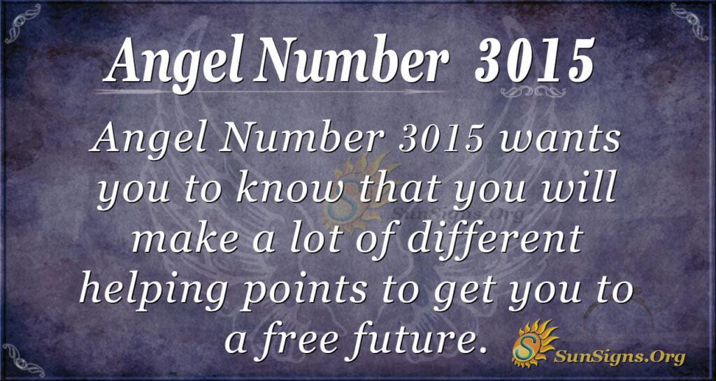 Angel Number 3015