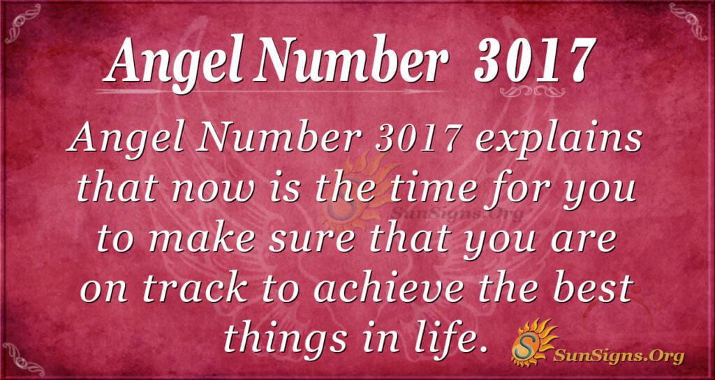 Angel Number 3017
