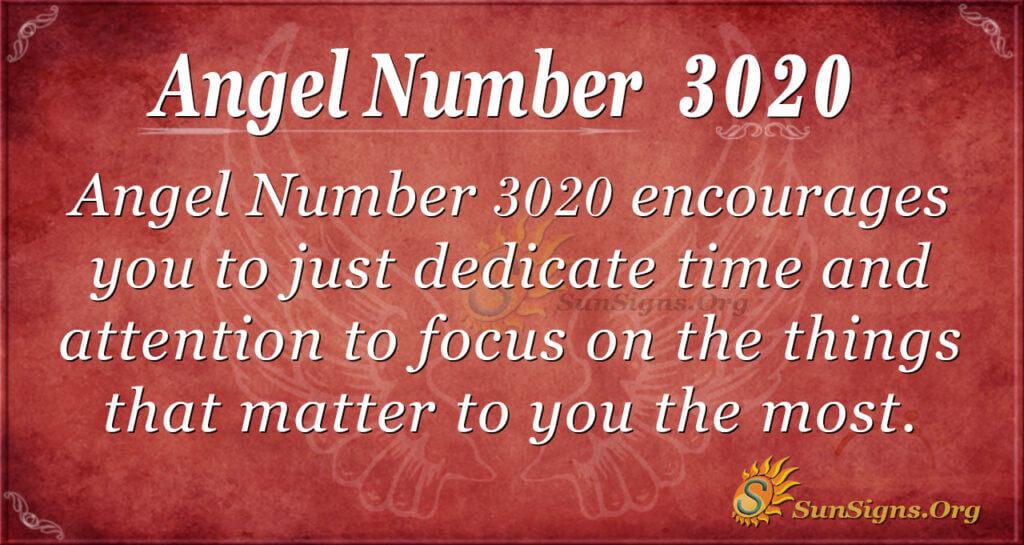 Angel Number 3020