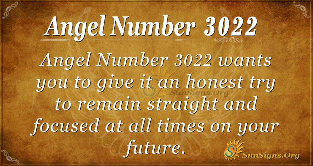 Angel number 3022