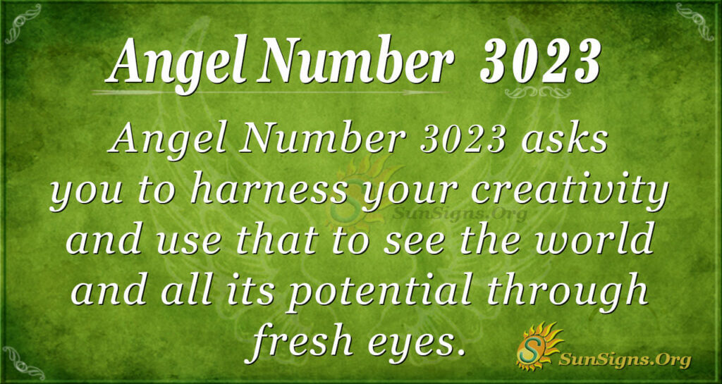Angel Number 3023