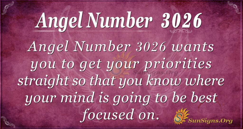 Angel Number 3026