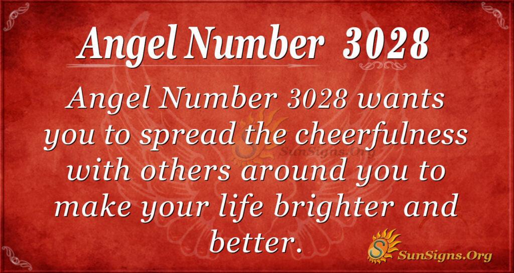 Angel Number 3028