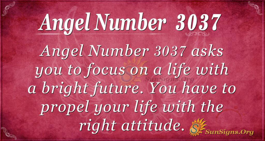 Angel Number 3037