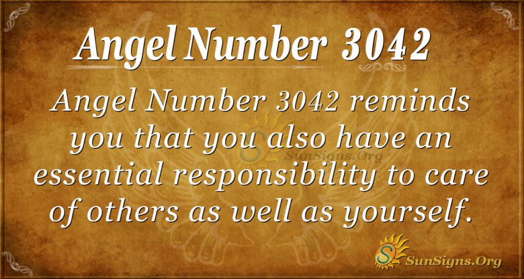 Angel Number 3042