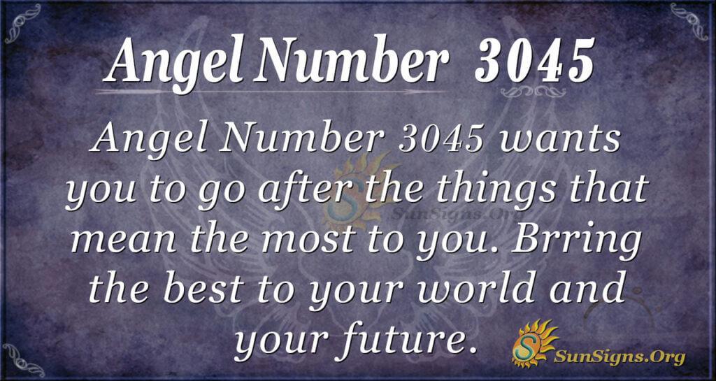 Angel Number 3045