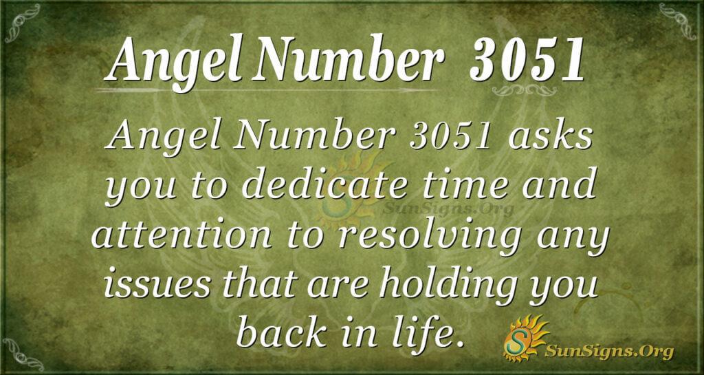 Angel Number 3051