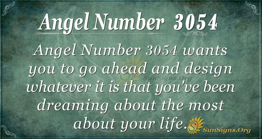 Angel Number 3054