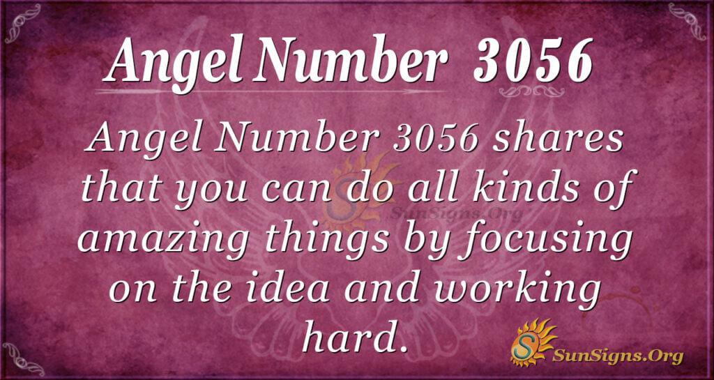Angel Number 3056