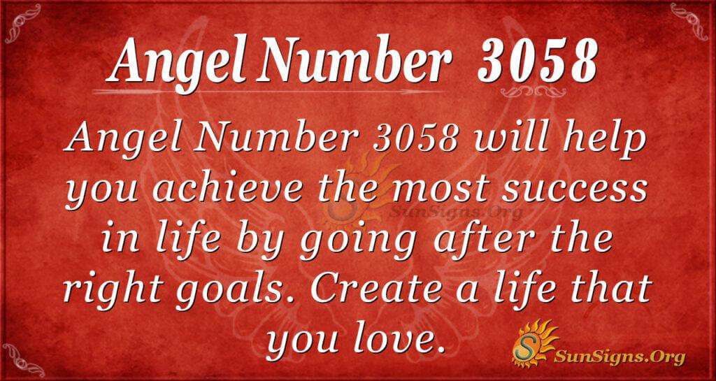 Angel Number 3058